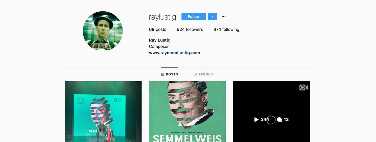 Instagram: Ray Lustig