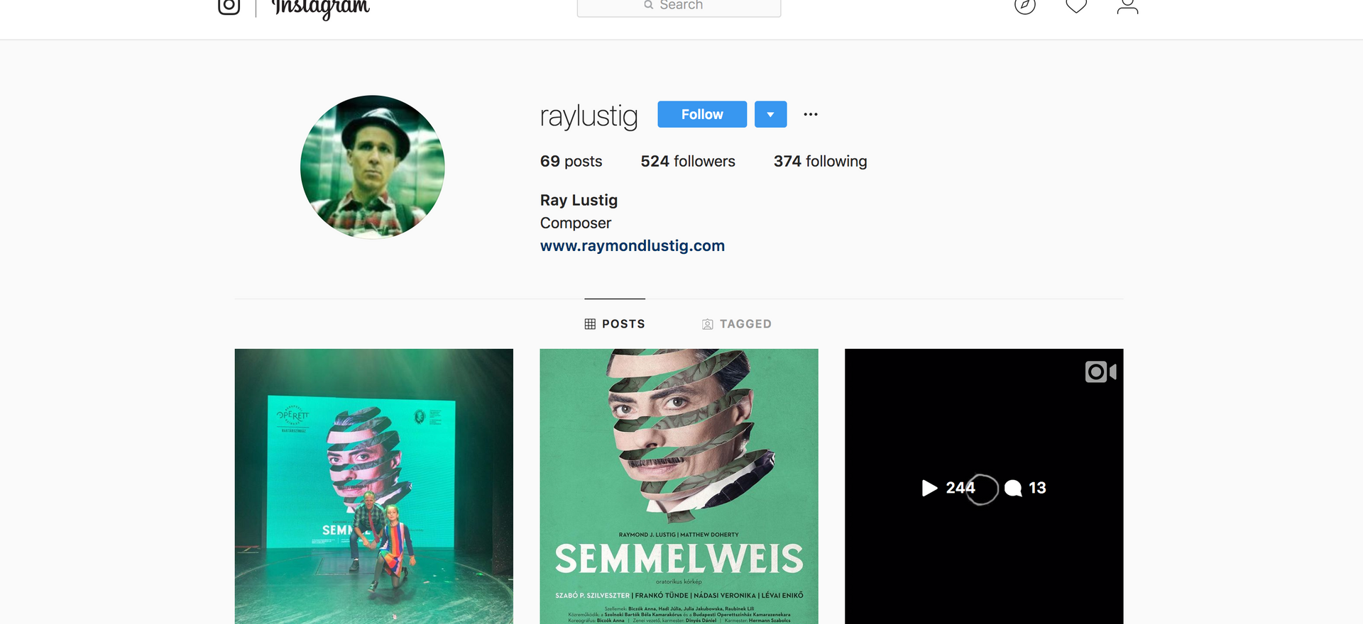 Instagram: Ray Lustig
