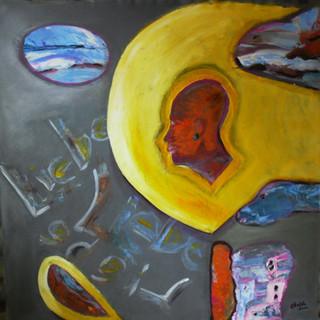 Acryl auf Leinwand 120 x 120 cm  2011  PB
