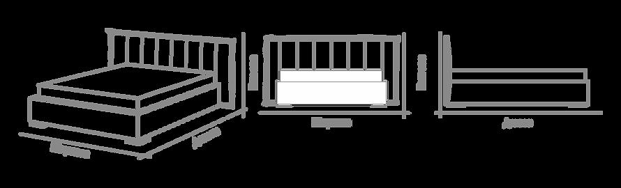 Размеры кровати Torretta Catarina Ricci