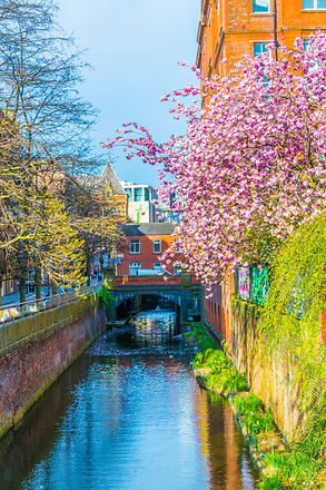 View of the Rochdale canal in Manchester