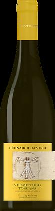 Weinflasche mit Etikette vom Vermentino da Vinci