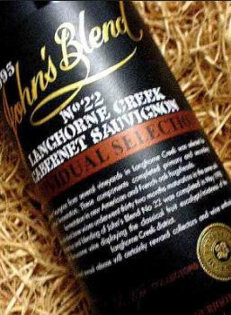 John's Blend Cabernet Sauvignon 1995 limited