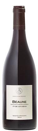 Weinflasche mit Etikette von Beaune vom Weingut J.C. Boisset Burgund,