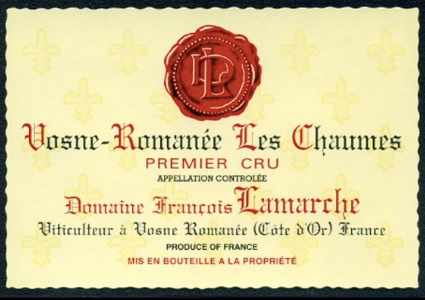 Vosne Romanée CHAUMES AC 1er Cru Domaine Lamarche 1996 Burgund