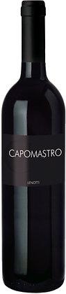 Weinflasche Rotwein mit schwarzer Etikette und weisser Schrift, Capo Mastro Veneto Lenotti,