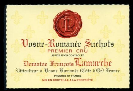 Vosne Romanée SUCHOTS AC 1er Cru Domaine Lamarche 1998 Burgund