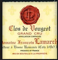 Clos de Vougeot AC Grand Cru Domaine Lamarche 1998 Burgund