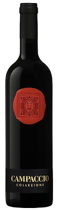 rotes Wachssiegel Terrabianca Toskana, auf Rotweinflasche,