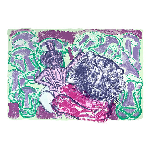 Pink Panther (grønn/rosa/lilla) - Bjarne Melgaard