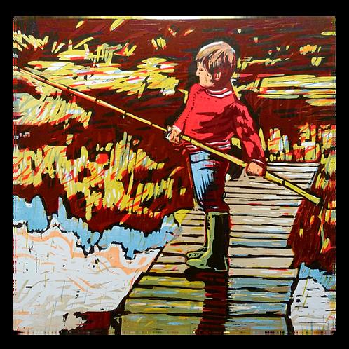 Gutt med bambus - Tor-Arne Moen