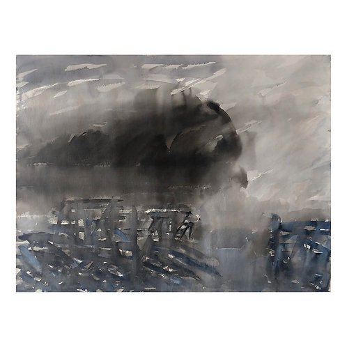 Blått i svart landskap - Morten Paulsen