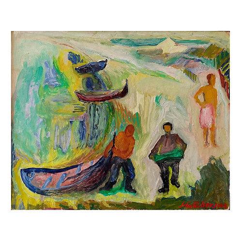 Uten tittel (gul/grønn) - John Paulsen
