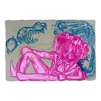 Pink Panther (grå/rosa/blå) - Bjarne Melgaard