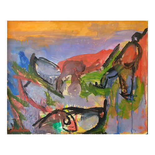Uten tittel (lilla/orange) - John Paulsen