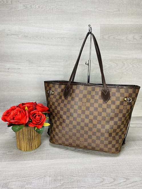 Louis Vuitton Neverfull MM Damier Ebene - DOL2201