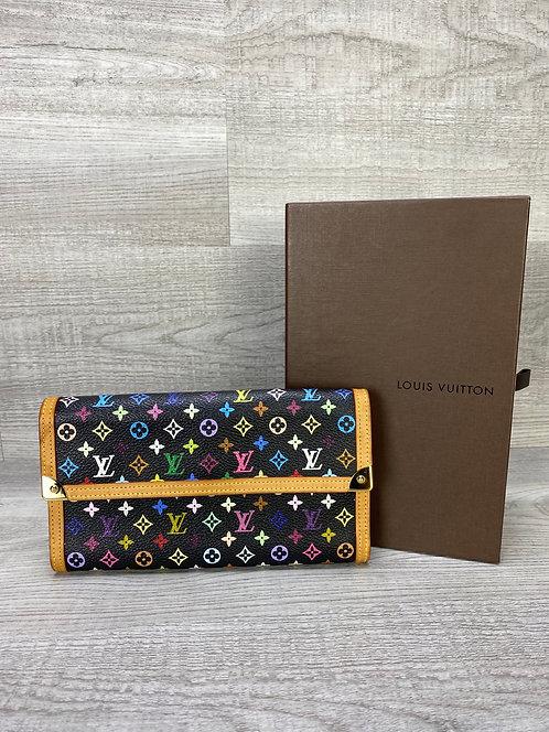 Louis Vuitton Monogram Multicolor Porte Tresor Wallet - DOL2108