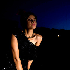 Model with Night Sky