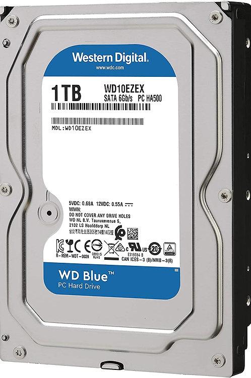 WD Blue 1TB Desktop Hard Disk Drive- 7200 RPM SATA 6 Gb/ s 64MB Cache 3.5 Inch