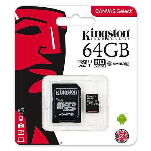 Kingston MicroSD 64GB SDCS/64GBCR Class10