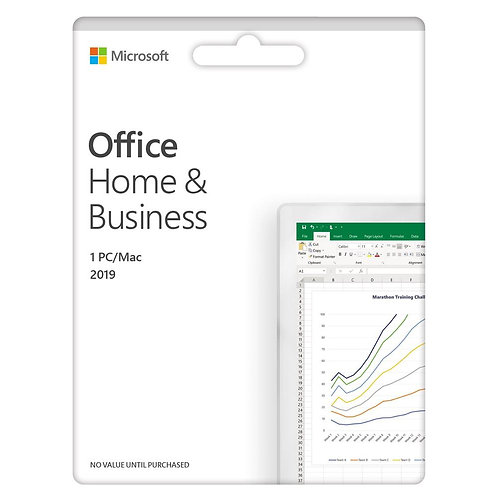 Microsoft Office Home and Business 2019 - English Medialess (T5D-03203)