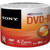 Sony DVD-R 4.7GB 50 Pk DVD-R 16X120min (50DMR47SB/T2WW)