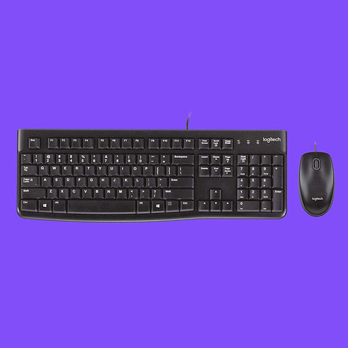 Logitech (920-002565) MK120 USB Wired Desktop Keyboard & Mouse Combo