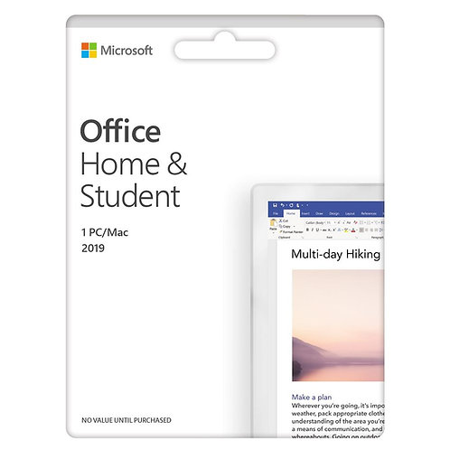 Microsoft Office Home and Student 2019 - English Medialess