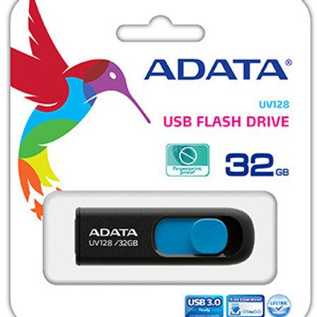 ADATA DashDrive UV128 32GB Retractable USB 3.0 Flash Drive