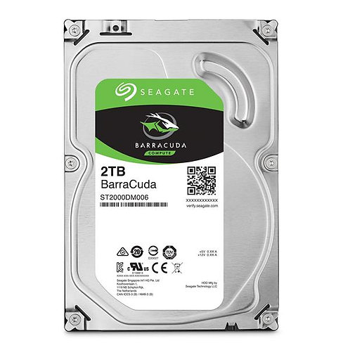 Seagate BarraCuda 2TB SATA 3.5'' 7200RPM Desktop Hard Drives (ST2000DM008)