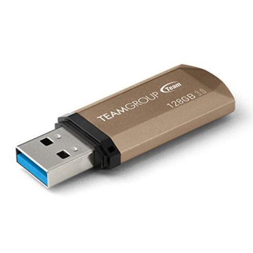 Team C155 128GB USB 3.0 Flash Drive Gold/Black (TC1553128GD01)