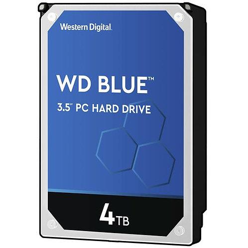 WD Blue 4TB Desktop Hard Disk Drive - 5400 RPM SATA 6 Gb/s 64MB Cache 3.5 Inch -