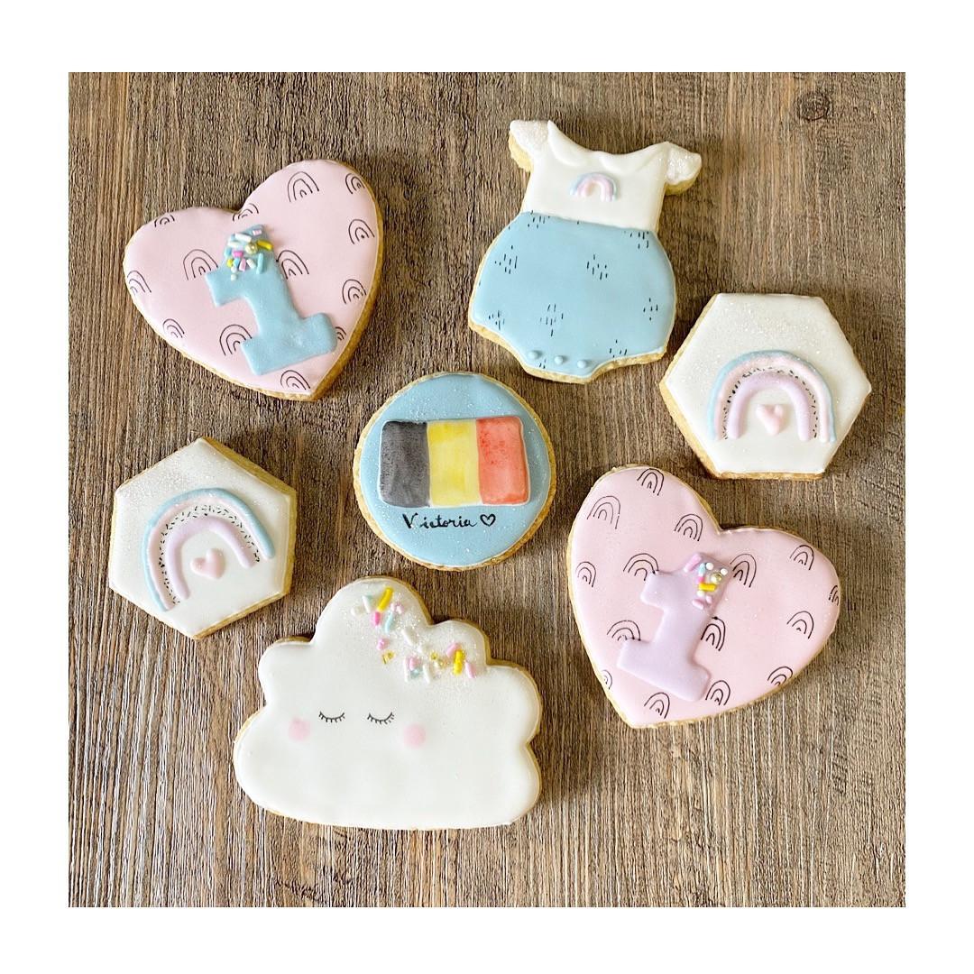 "Biscuits thème ""Rainbow"""