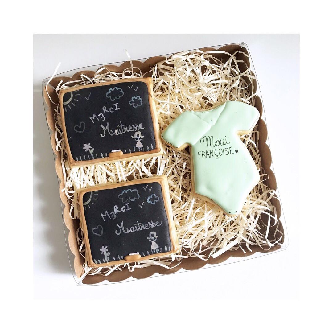 Biscuits Remerciements Nounou & Maîtresses