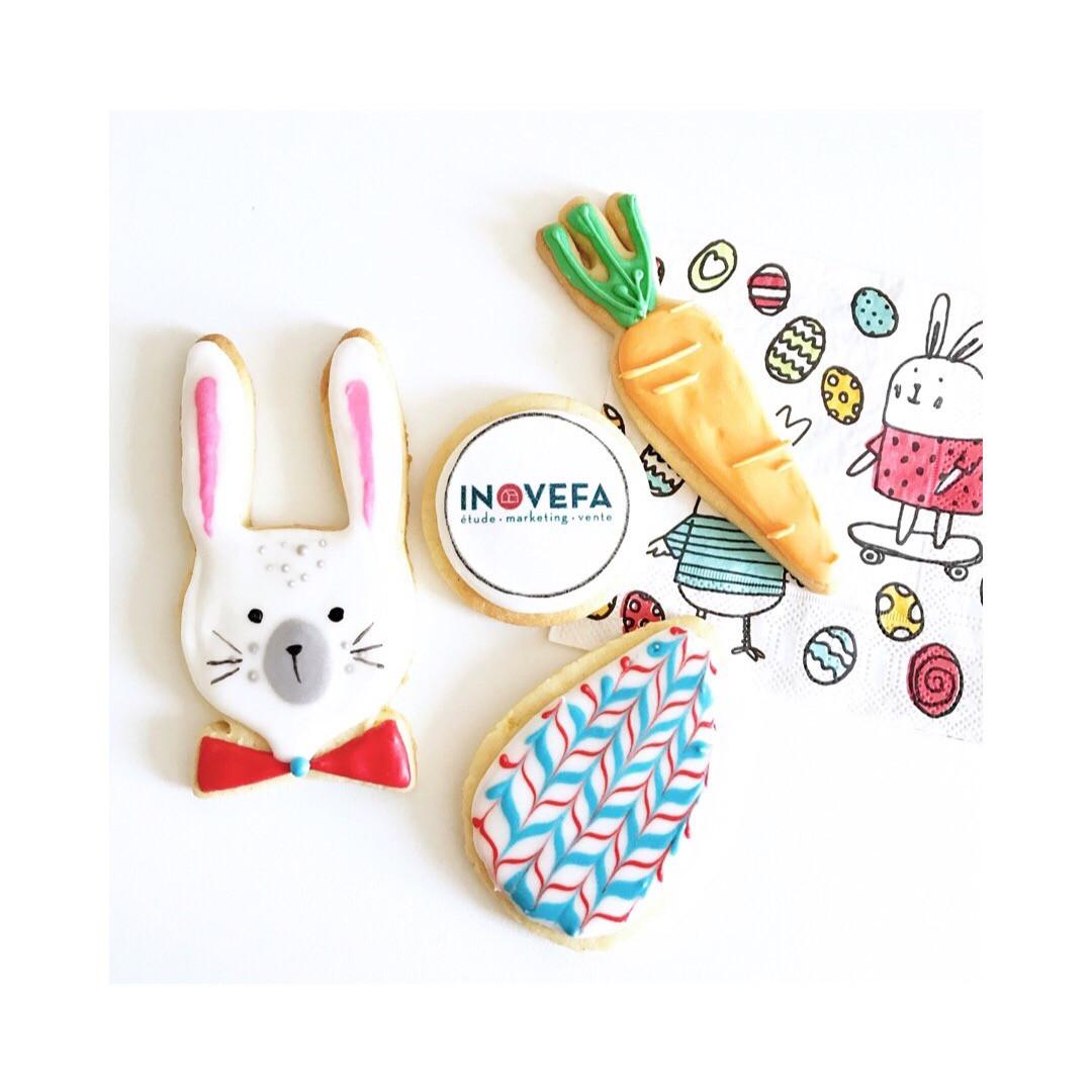 Biscuits thème Pâques pour Inovefa