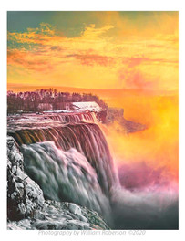Winter Sunset, Niagara Falls