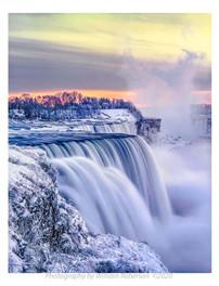 Winter Sunset, Niagara
