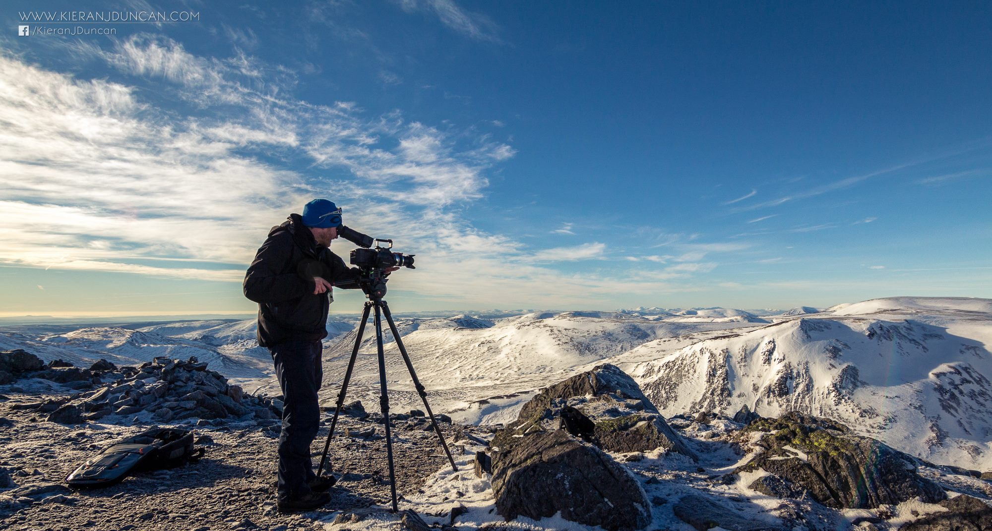 Morrocco Media filming at Glenshee