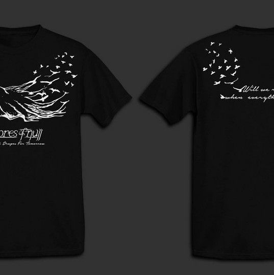 Shores Of Null – 'Black Drapes For Tomorrow' T-Shirt