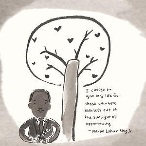Martain Luther King Jr Illustration