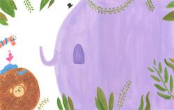 repainted elephant spread