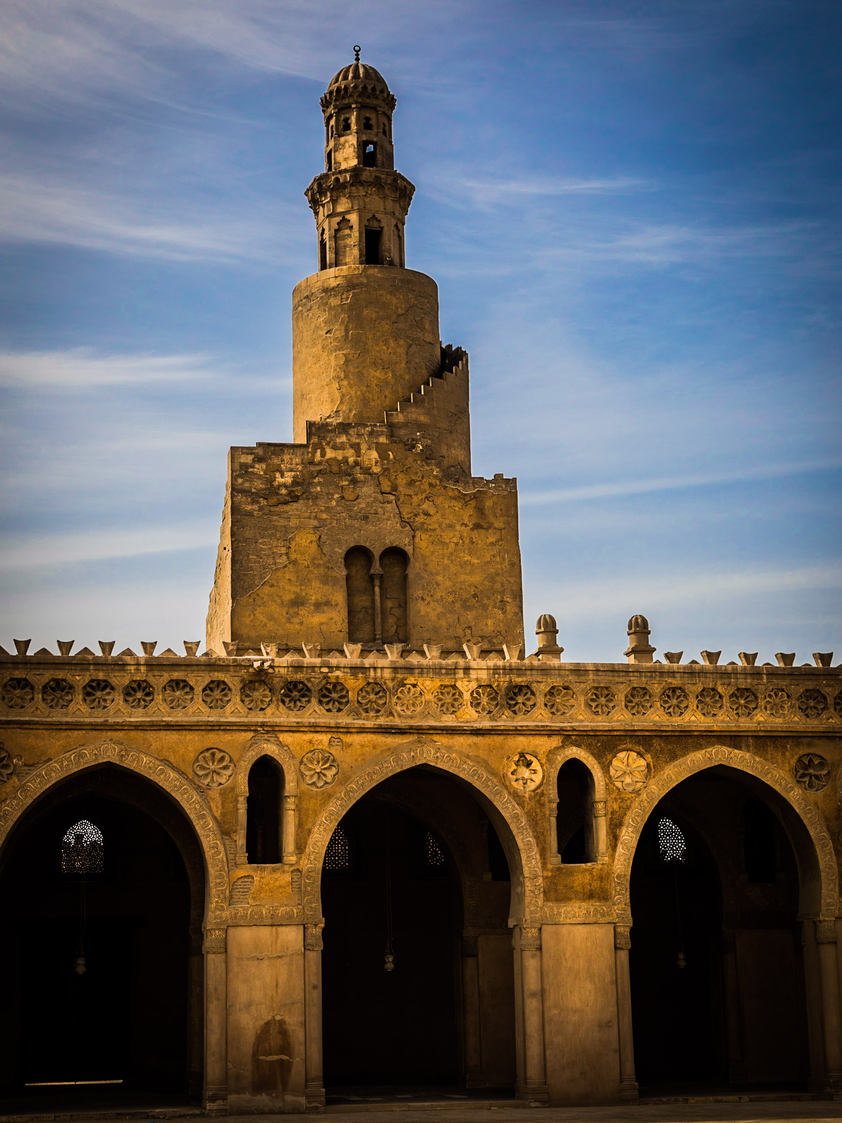minaret of Ibn Tulun Mosque, Cairo