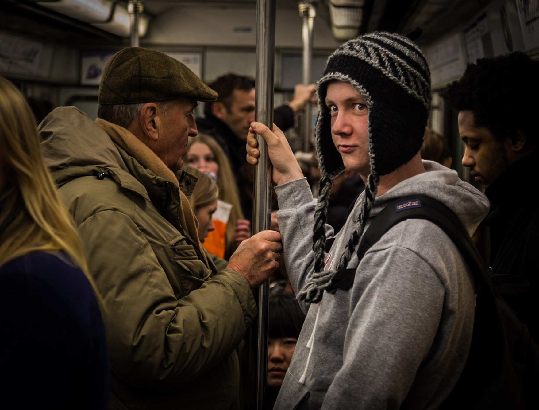 on Le Metro, under Paris France