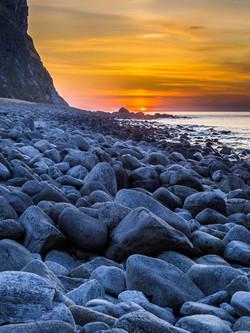 rocky sunset Unstad