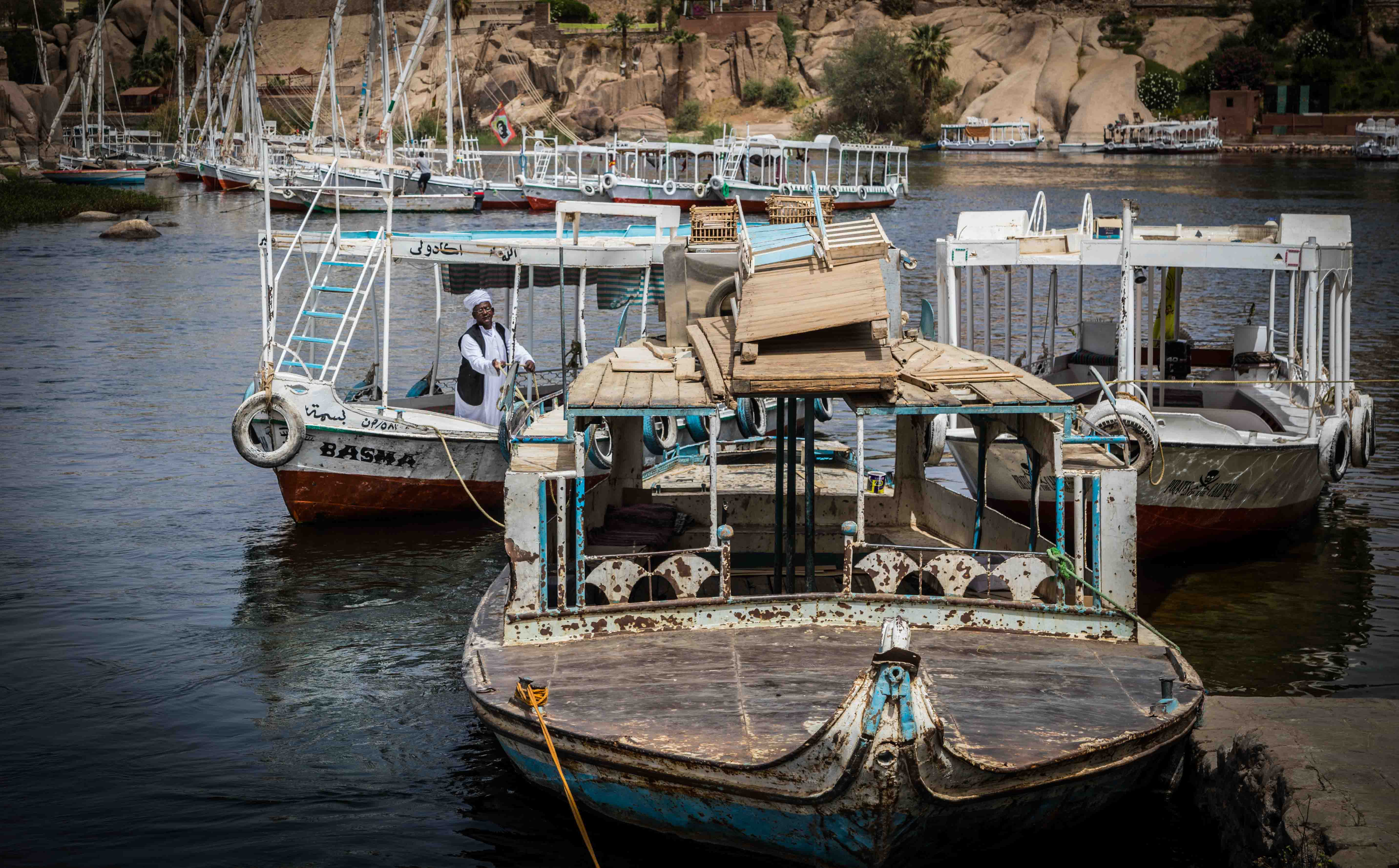 boats, Aswan cataracts