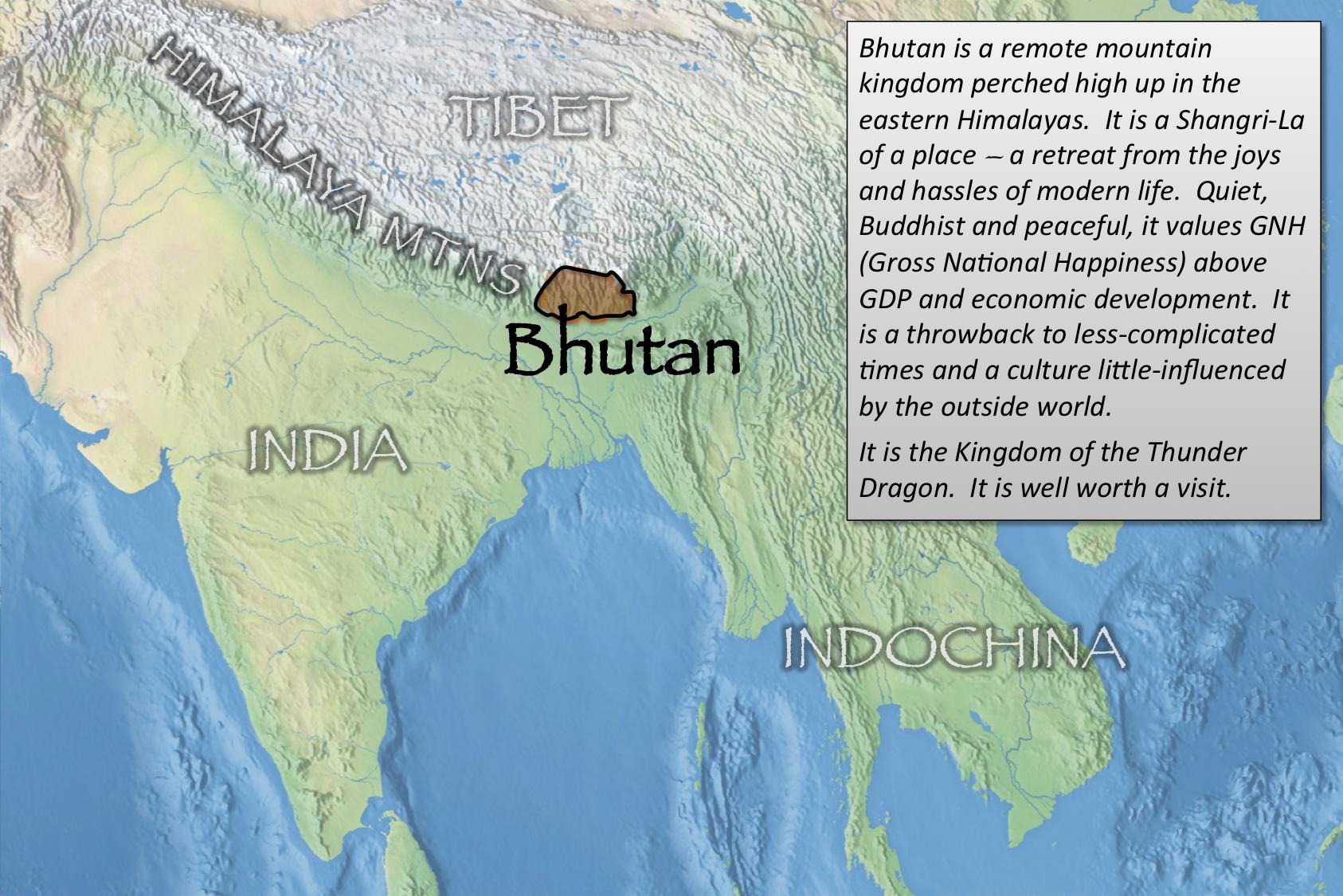 Bhutan index map