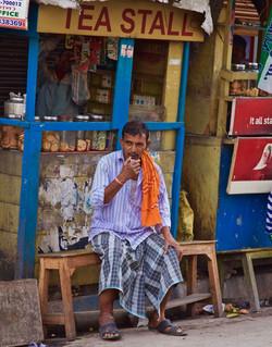 tea stall, Calcutta
