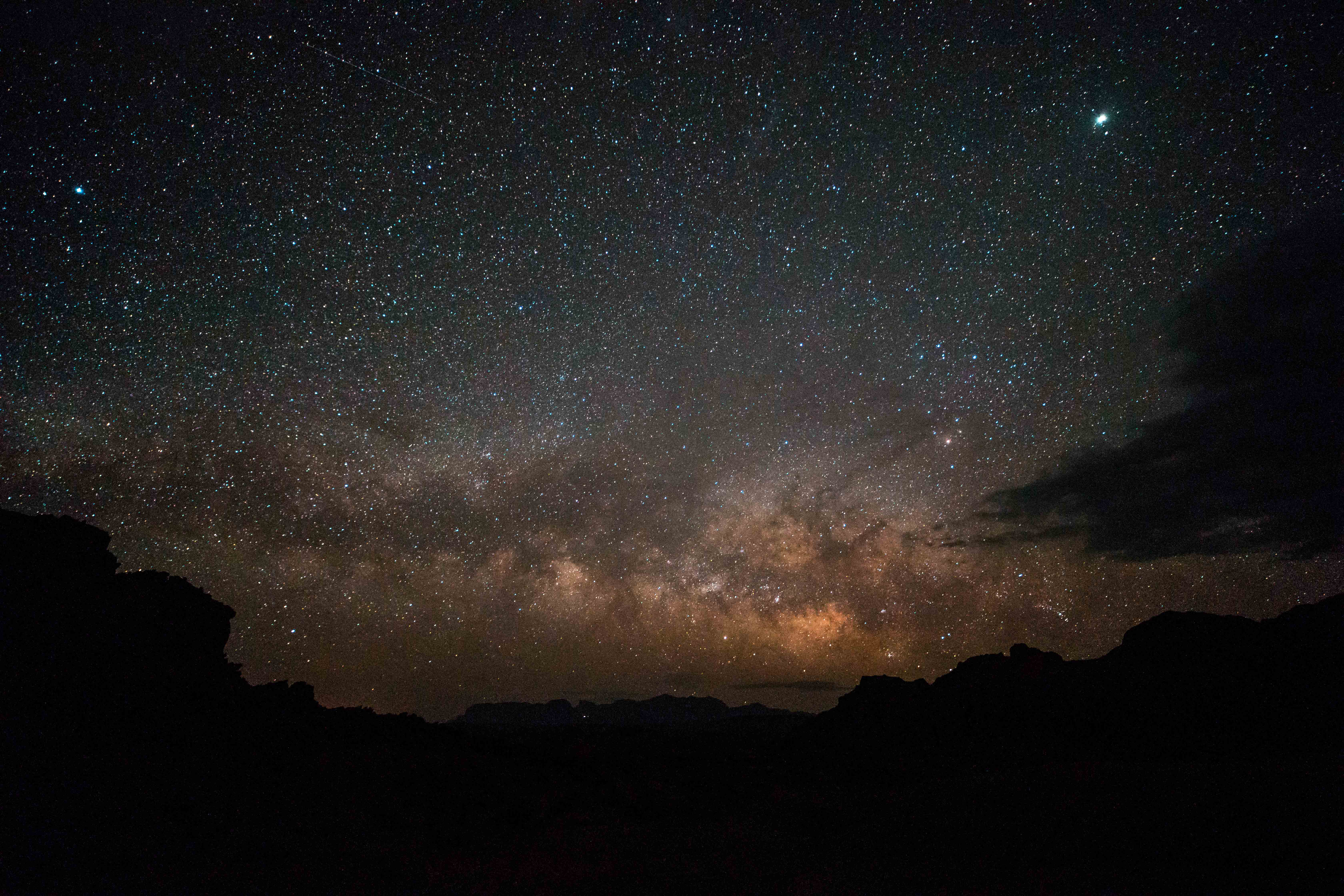 Milky Way begins to rise