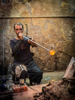 City of the Dead glassblower, Cairo