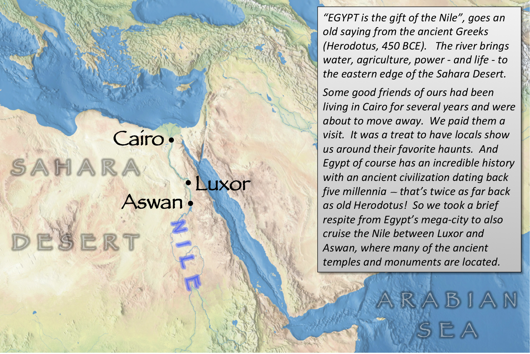 Egypt index map